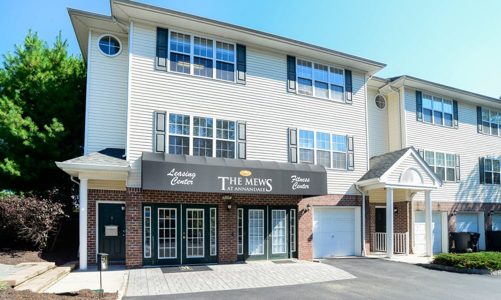 Leasing center at Mews at Annandale Townhomes in Annandale, NJ
