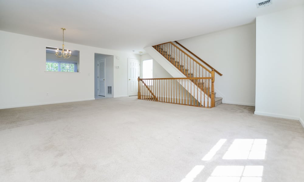 Mews at Annandale Townhomes offers a naturally well-lit living room in Annandale, NJ