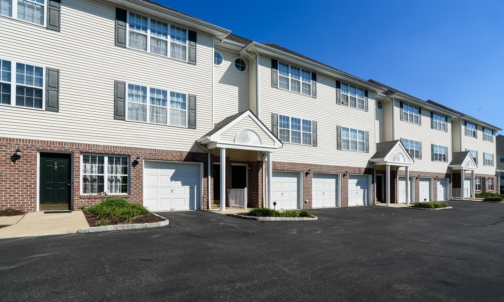 Exterior view at Mews at Annandale Townhomes in Annandale, NJ