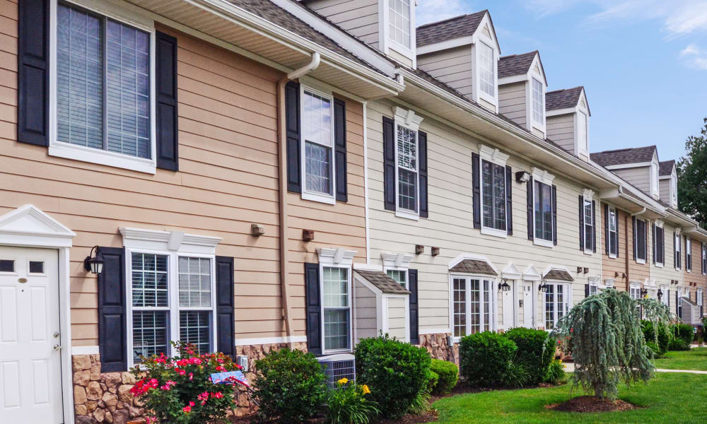 Exterior view at Montgomery Manor Apartments & Townhomes in Hatfield, PA