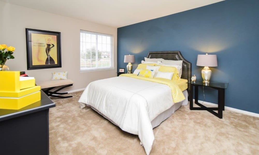 Spacious bedroom at Montgomery Woods Townhomes in Harleysville, PA
