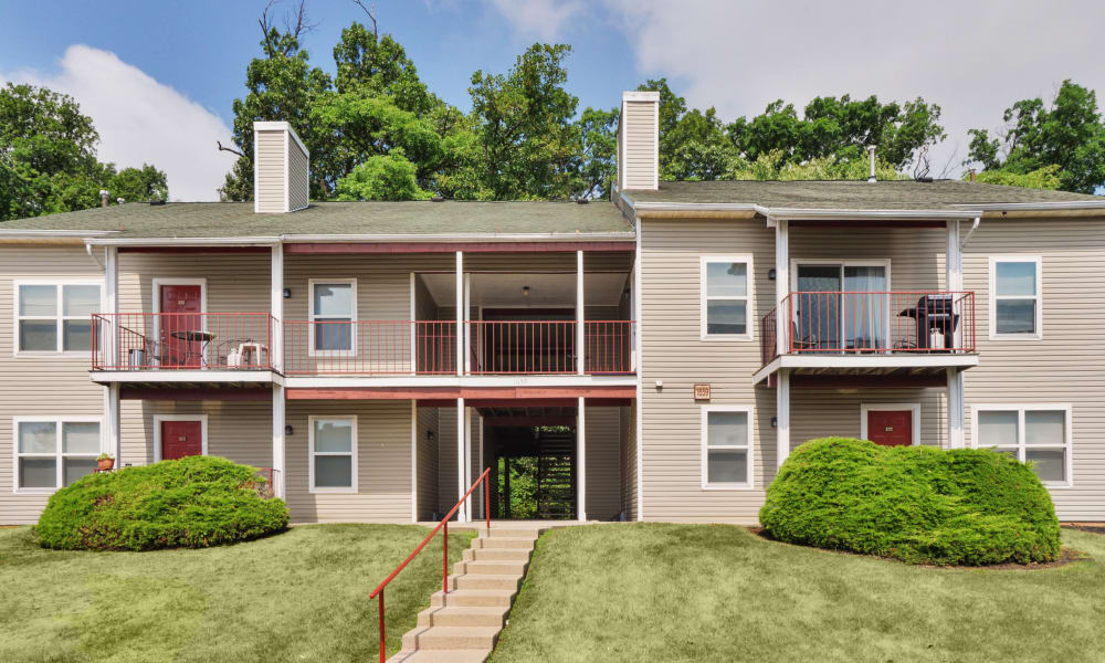 Exterior view at The Greens at Westgate Apartment Homes in York, PA