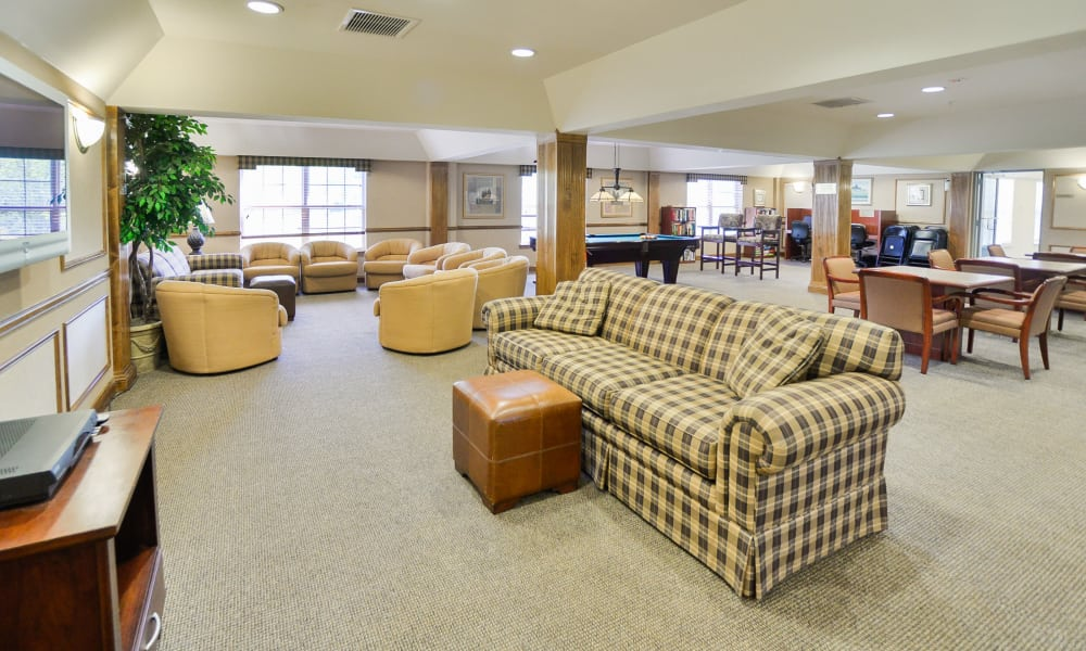 Clubhouse common hall at apartments in Franklin Lakes, NJ