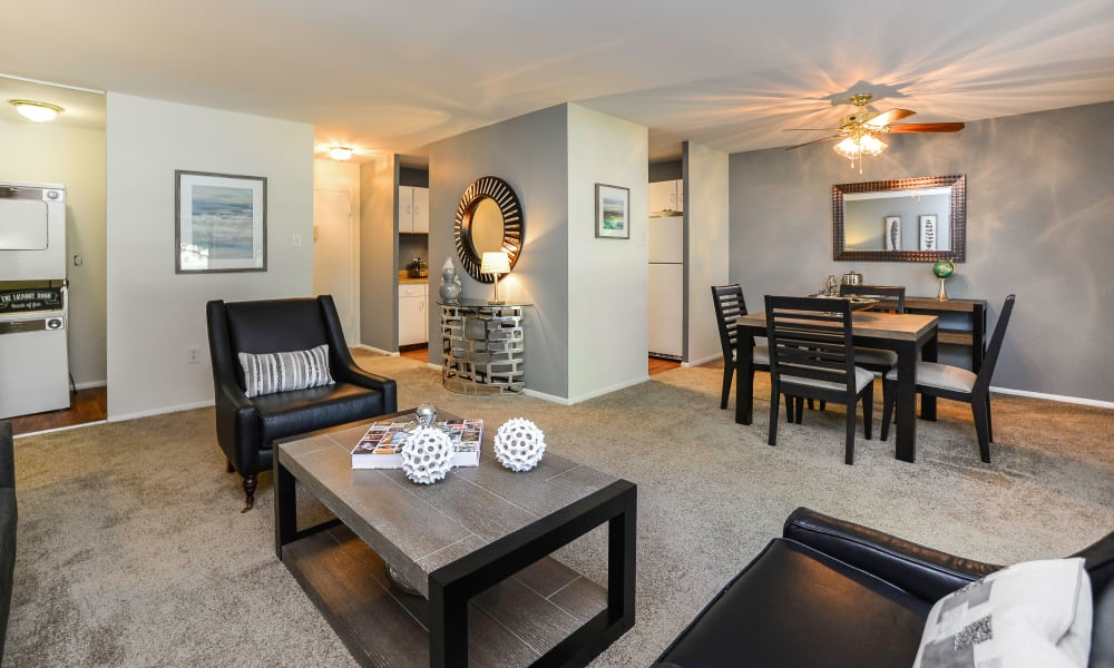 Spacious living room at Timberlake Apartment Homes in East Norriton, PA