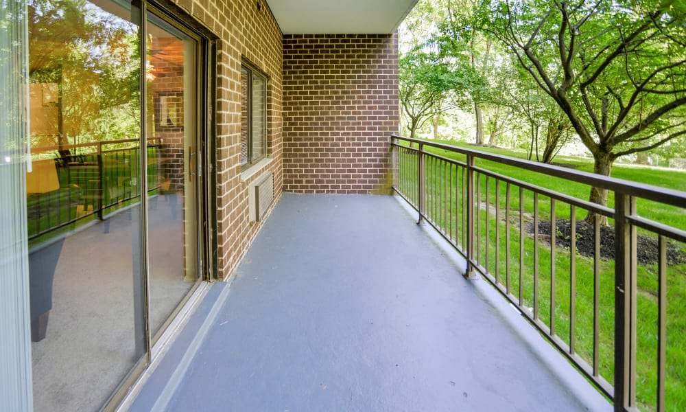 Balcony at Timberlake Apartment Homes in East Norriton, PA