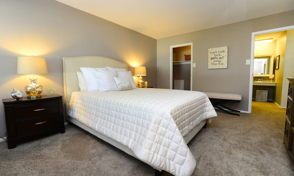 Bedroom at apartments in East Norriton, PA