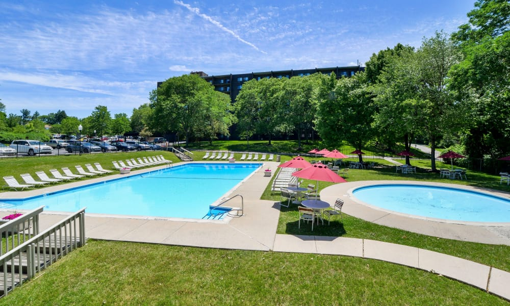 Enjoy apartments with a swimming pool at Timberlake Apartment Homes