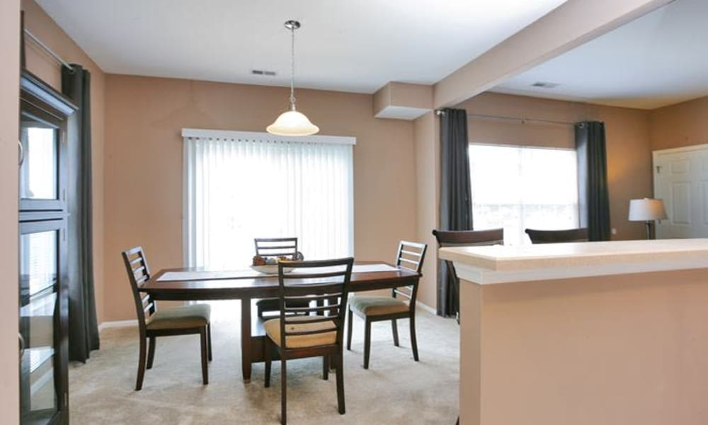 Dining room at Woodview at Marlton Apartment Homes in Marlton, NJ