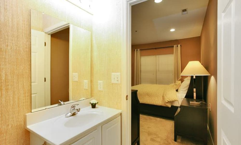Bathroom at Woodview at Marlton Apartment Homes in Marlton, New Jersey