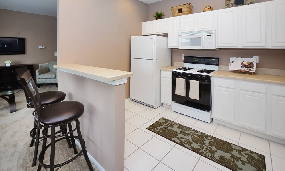 Kitchen at Woodview at Marlton Apartment Homes in Marlton, New Jersey