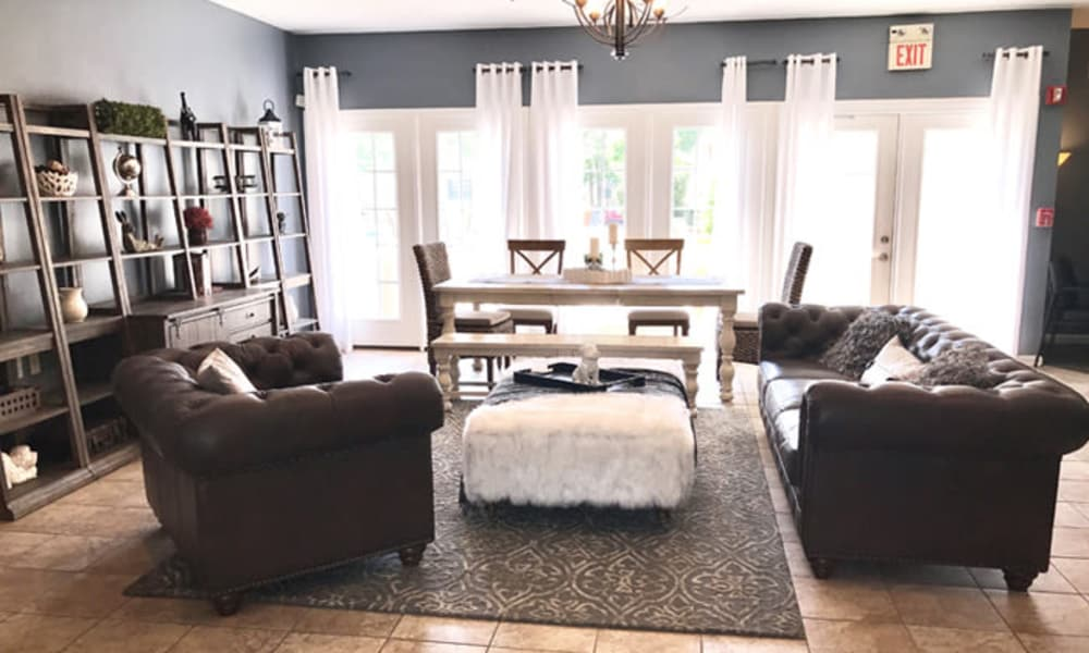 Enjoy apartments with a living room at Woodview at Marlton Apartment Homes