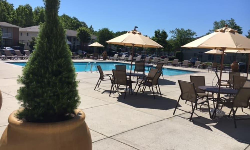 Swimming pool at apartments in Marlton, NJ