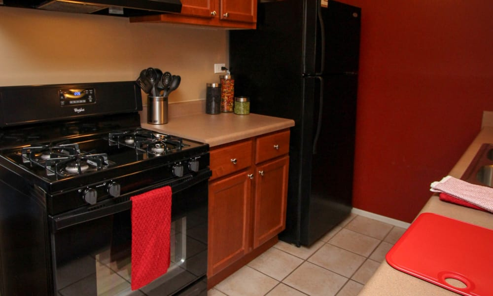 Modern kitchen at apartments in Oak Forest, Illinois