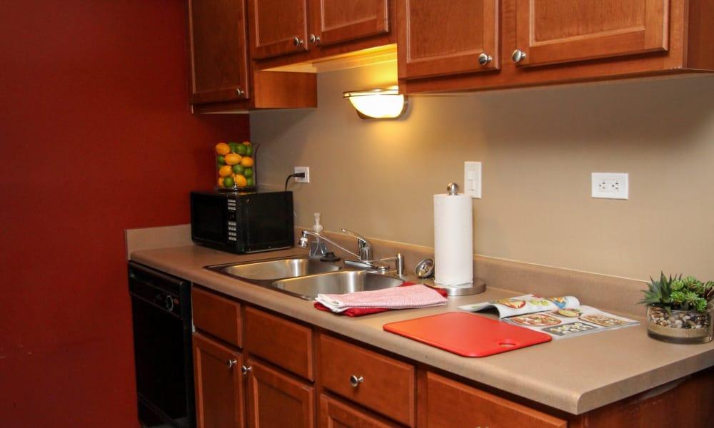 Beautiful kitchen at Rustic Oaks in Oak Forest, Illinois