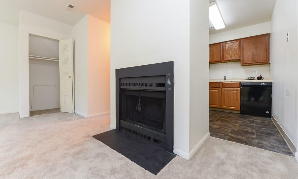 Fireplace at Tory Estates Apartment Homes in Clementon