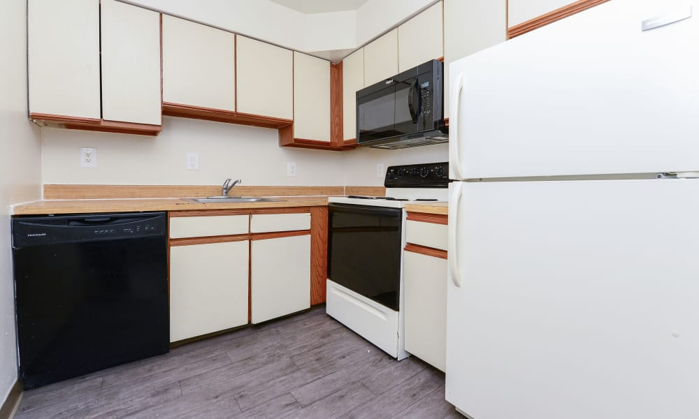 Great kitchen storage at Tory Estates Apartment Homes in Clementon