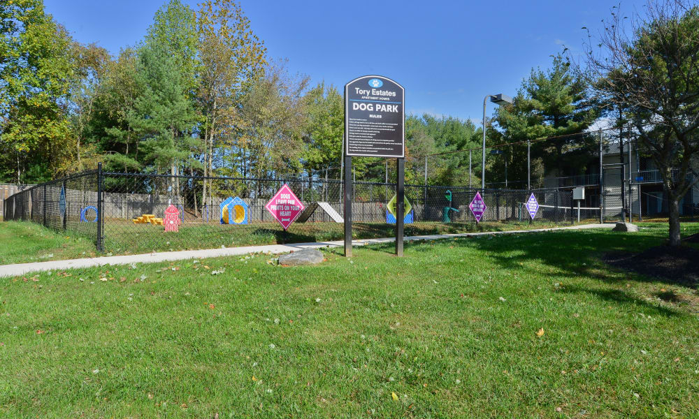 Park area at Tory Estates Apartment Homes in Clementon
