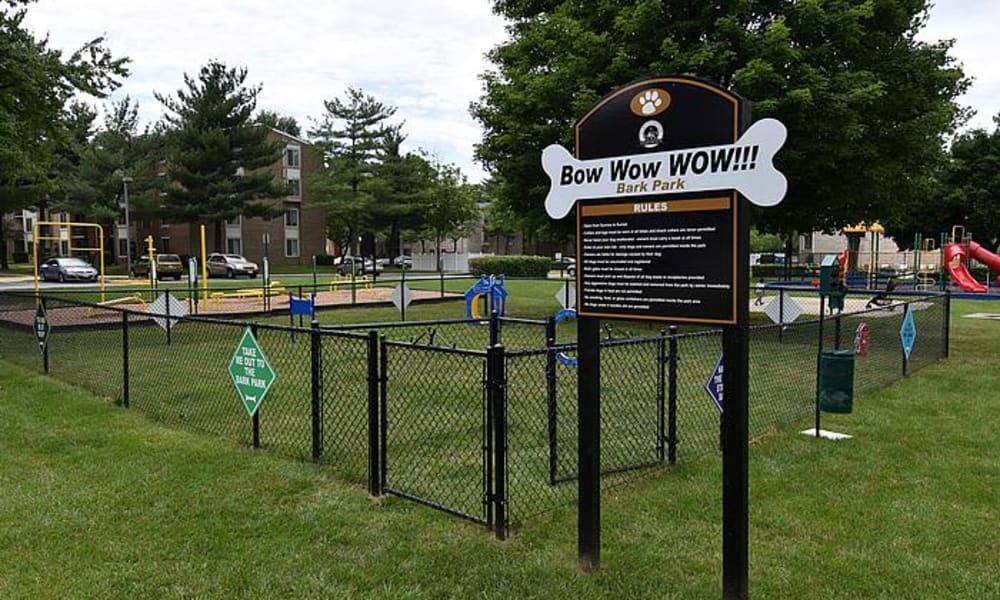 Beautiful dog park at Northampton Apartment Homes