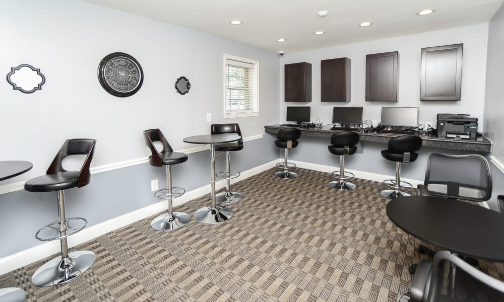 Business Room at The Village of Chartleytowne Apartment & Townhomes in Reisterstown, MD