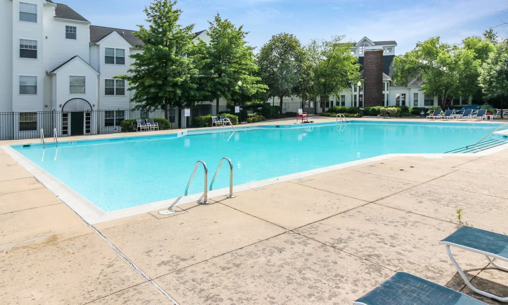 Beautiful swimming pool at The Apartments at Diamond Ridge in Baltimore, MD