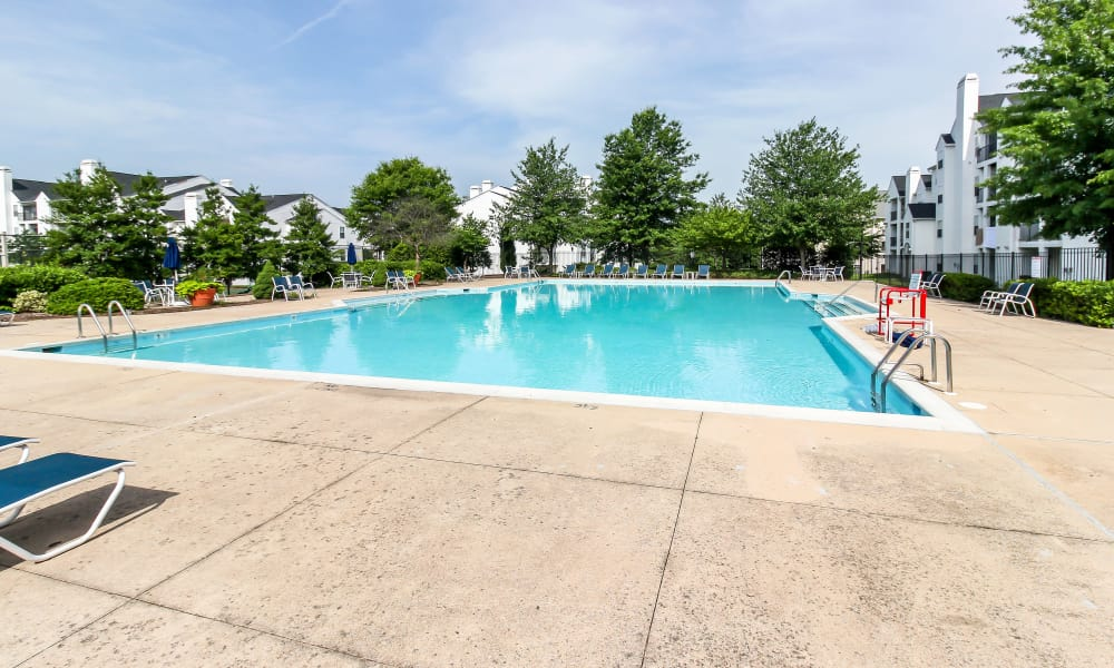 The Apartments at Diamond Ridge offers a beautiful swimming pool in Baltimore, MD