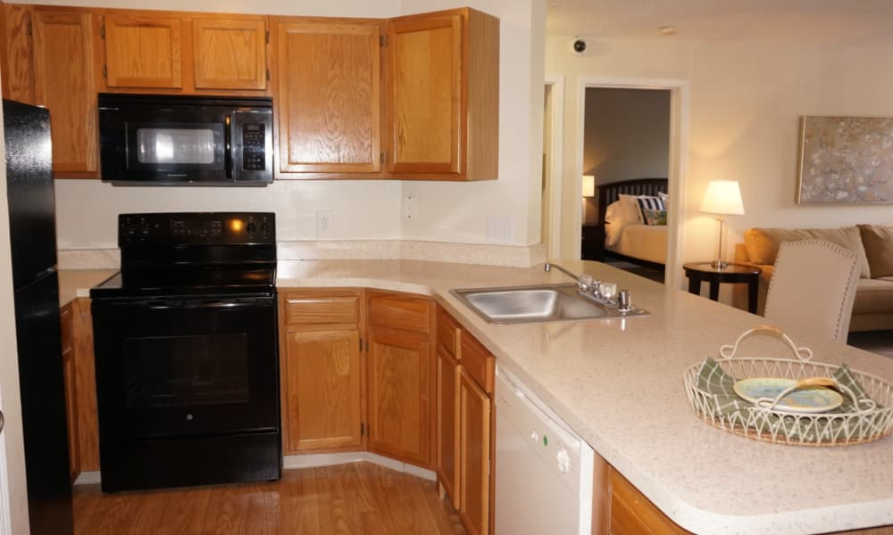Modern kitchen at apartments in Baltimore, MD