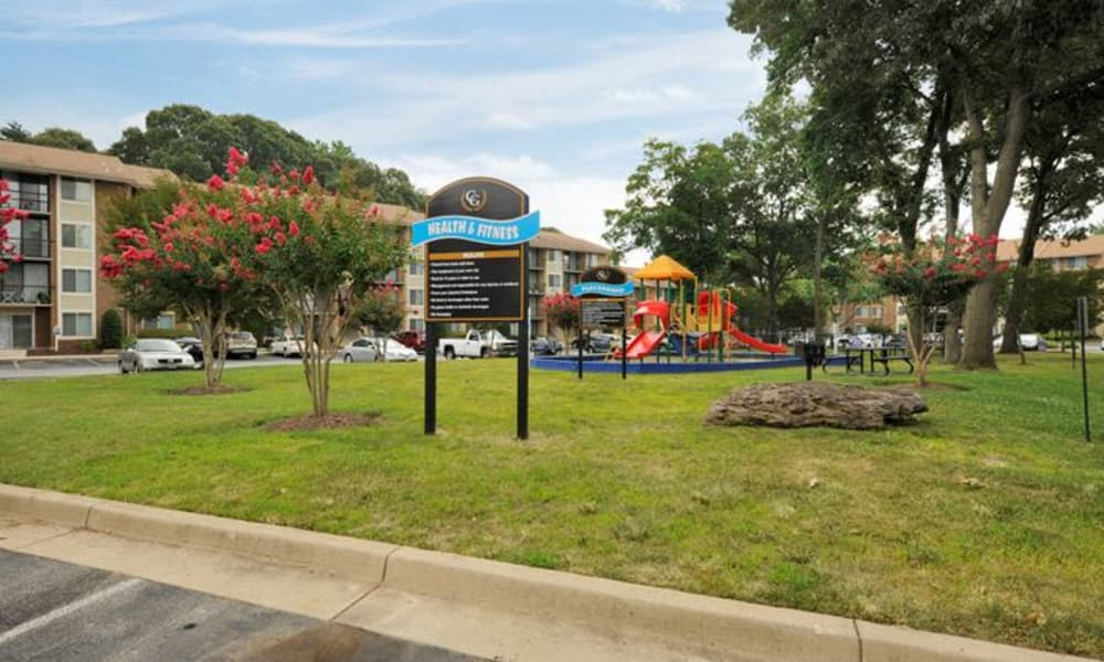 Renovated playground at Chesapeake Glen Apartment Homes in Glen Burnie, MD