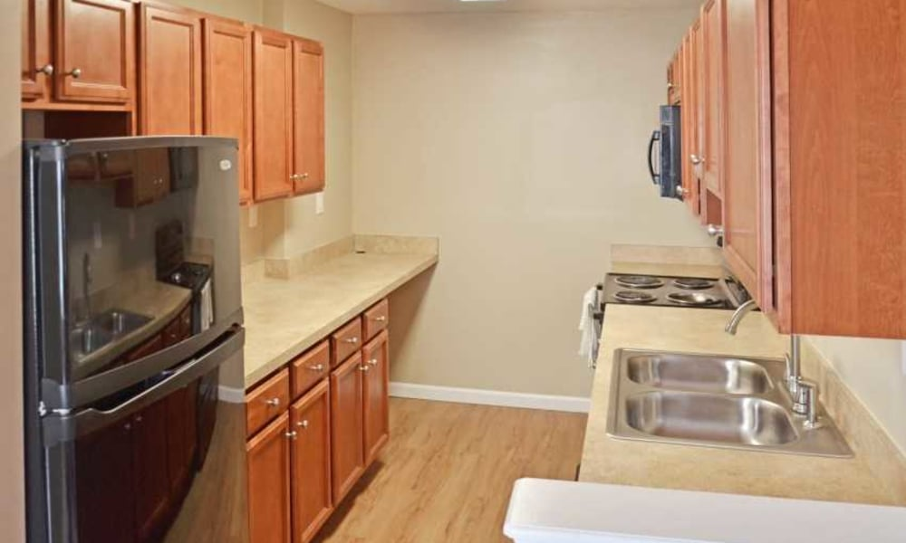 Upgraded kitchen at Montgomery Manor Apartments & Townhomes