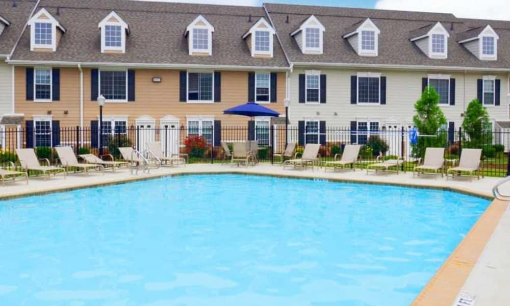 Large pool at Montgomery Manor Apartments & Townhomes