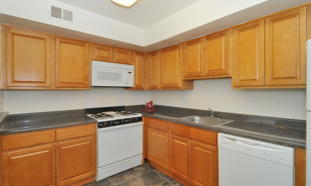 Kitchen at Montgomery Woods Townhomes