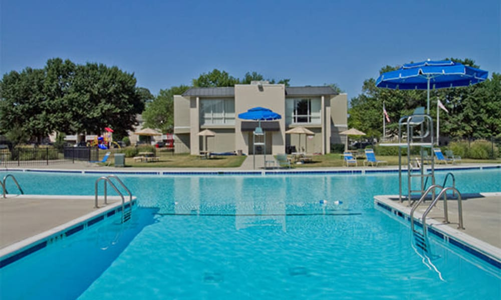 Beautiful swimming pool at Henson Creek Apartment Homes in Temple Hills, MD
