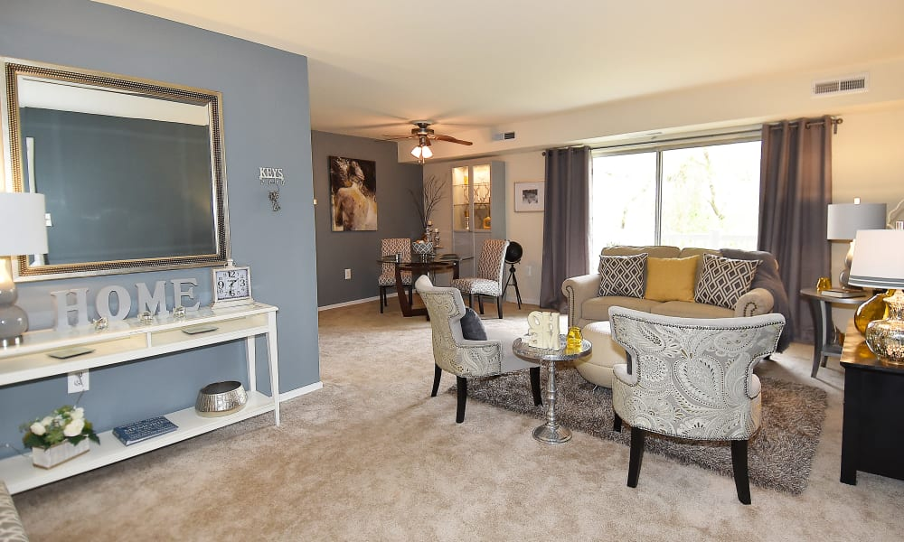 Enjoy a living room at Henson Creek Apartment Homes spacious apartments