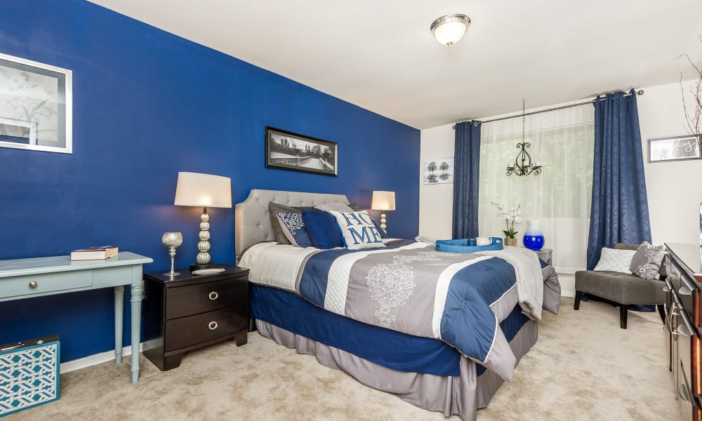 Beautiful bedroom at Henson Creek Apartment Homes in Temple Hills, MD