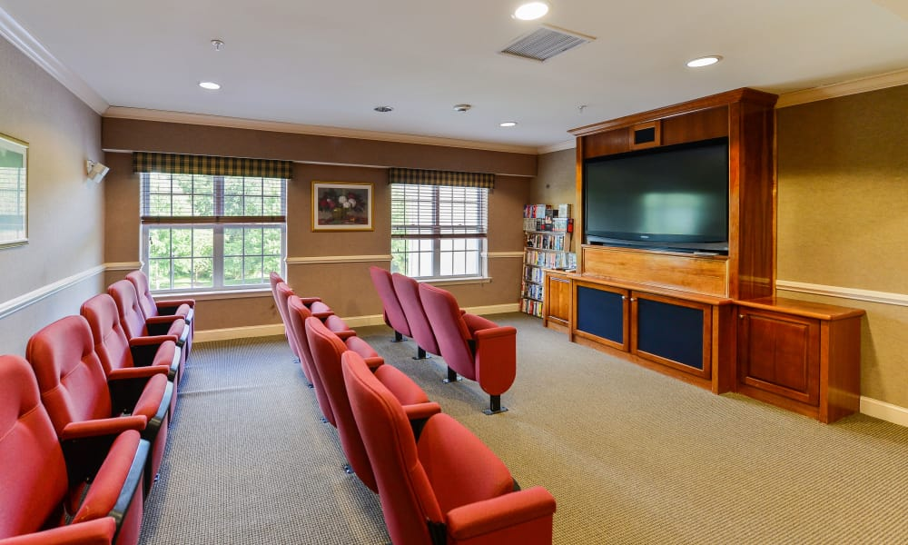 Movie room at The Horizons at Franklin Lakes Apartment Homes