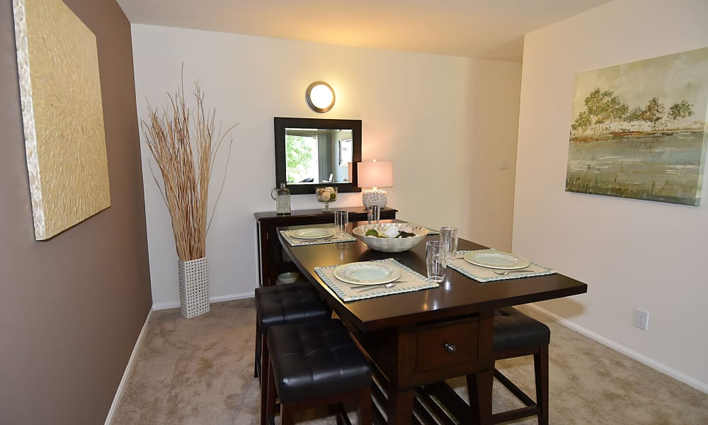 Dining room at Lighthouse at Twin Lakes Apartment Homes in Beltsville, MD