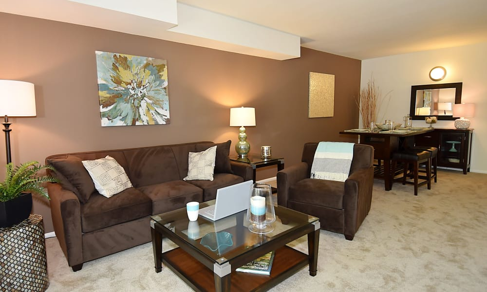 Lighthouse at Twin Lakes Apartment Homes offers a spacious living room in Beltsville, MD