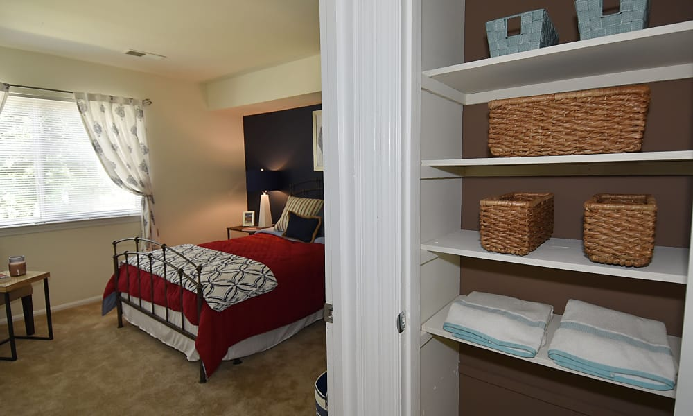 Beautiful bedroom at apartments in Beltsville, MD