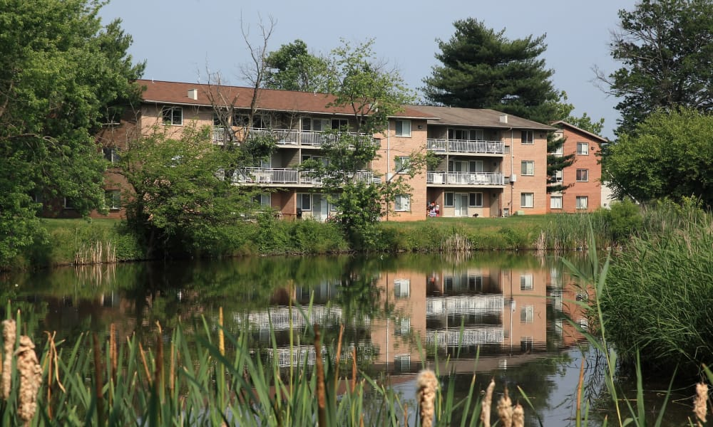 view of our apartments at Willow Lake Apartment Homes in Laurel, MD
