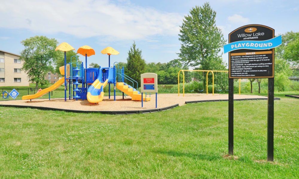 Beautiful playground at Willow Lake Apartment Homes in Laurel, MD