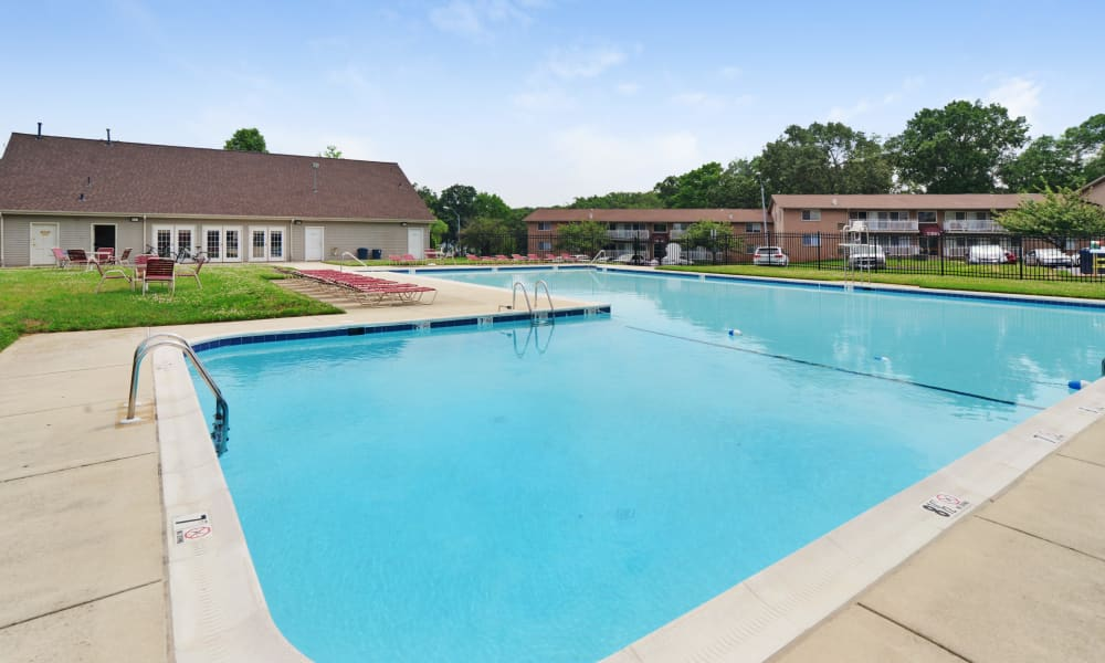 Our apartments in Laurel, MD showcase a beautiful swimming pool