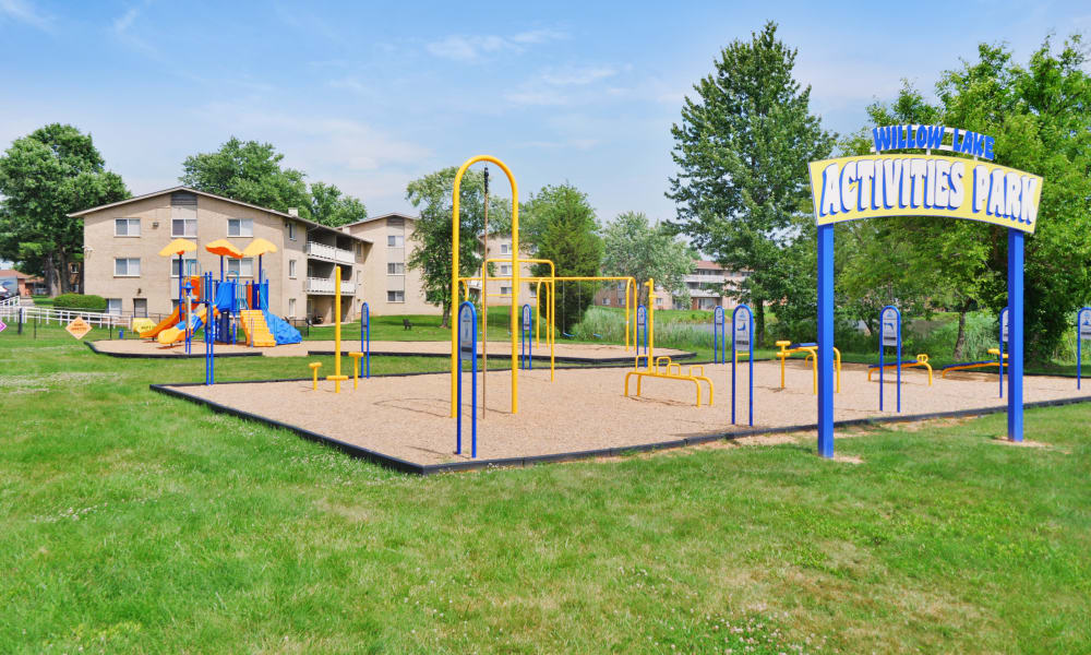 Willow Lake Apartment Homes offers a beautiful playground in Laurel, MD