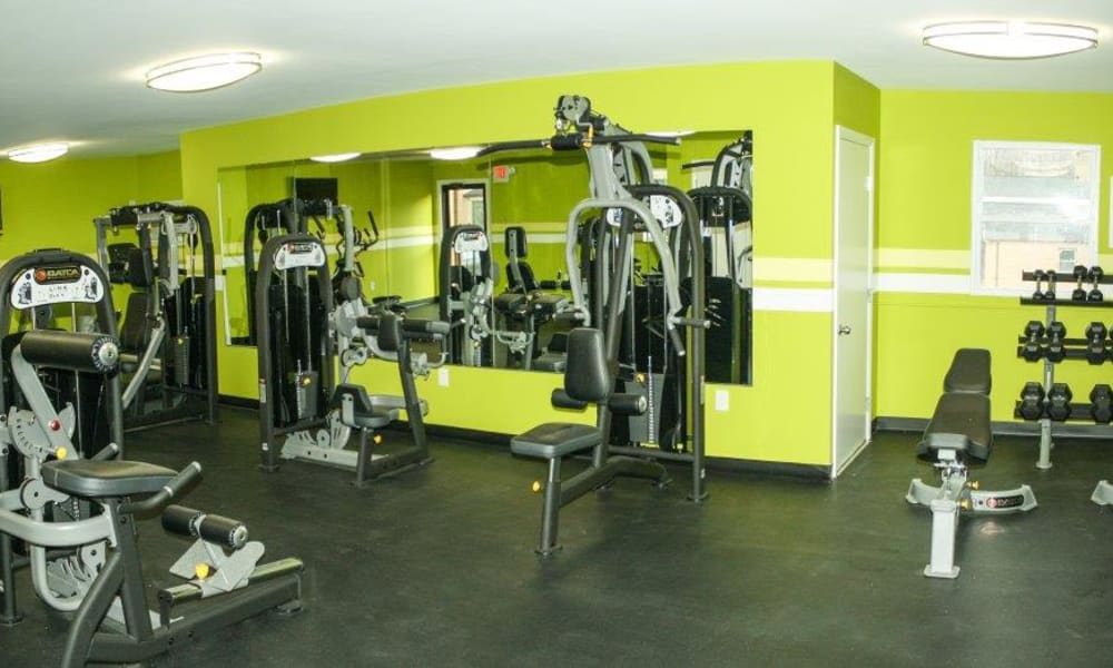 Beautiful fitness center at Eastampton Gardens Apartment Homes in Eastampton, NJ
