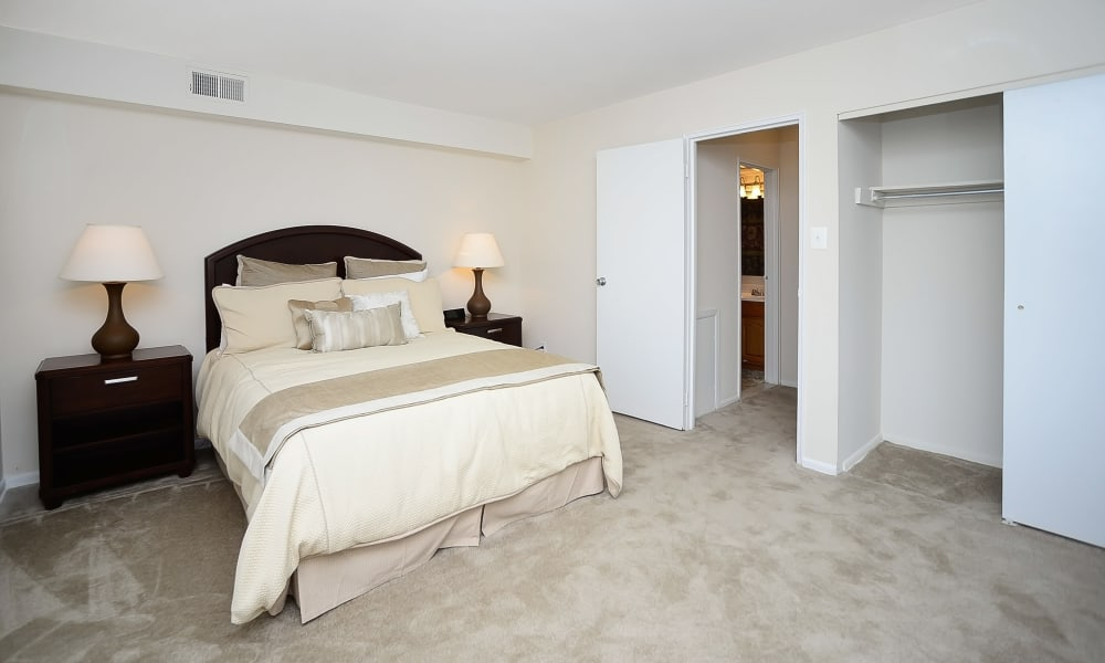 Beautiful bedroom at Eastampton Gardens Apartment Homes in Eastampton, NJ