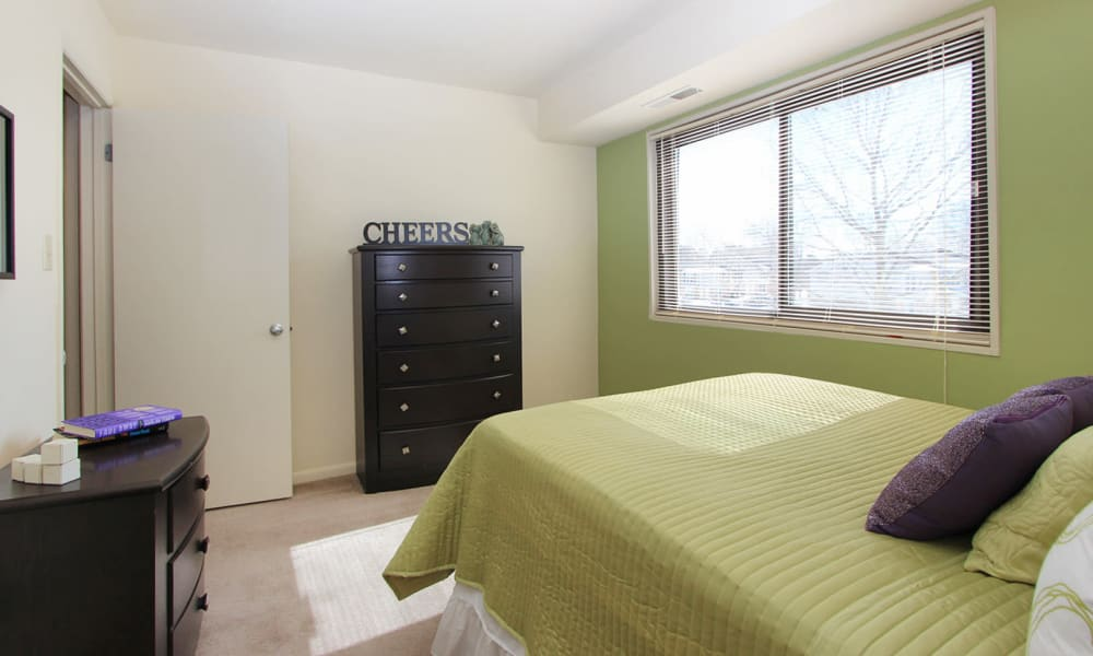 Naturally well-lit bedroom at Villages at Montpelier Apartment Homes in Laurel, MD