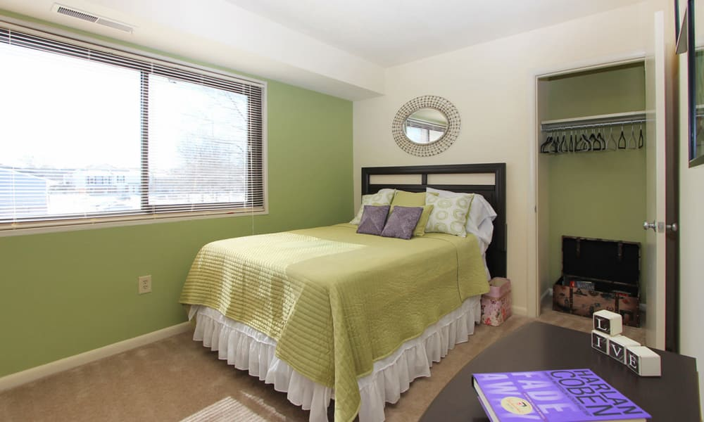 Villages at Montpelier Apartment Homes offers a beautiful bedroom in Laurel, MD