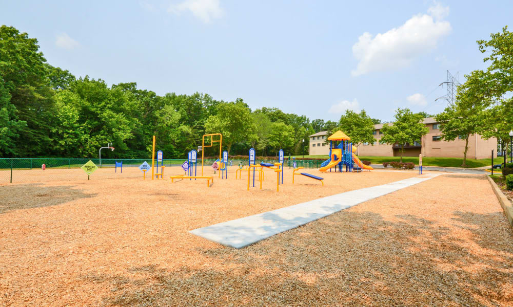 Playground near the health and fitness area at Villages at Montpelier Apartment Homes in Laurel, MD