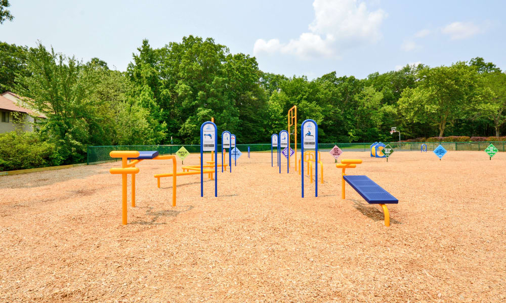 Outdoors Health and fitness equipment at Villages at Montpelier Apartment Homes in Laurel, MD