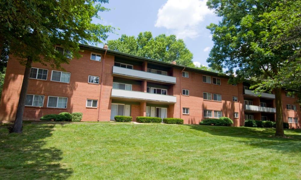 Large courtyard at Lynbrook at Mark Center Apartment Homes