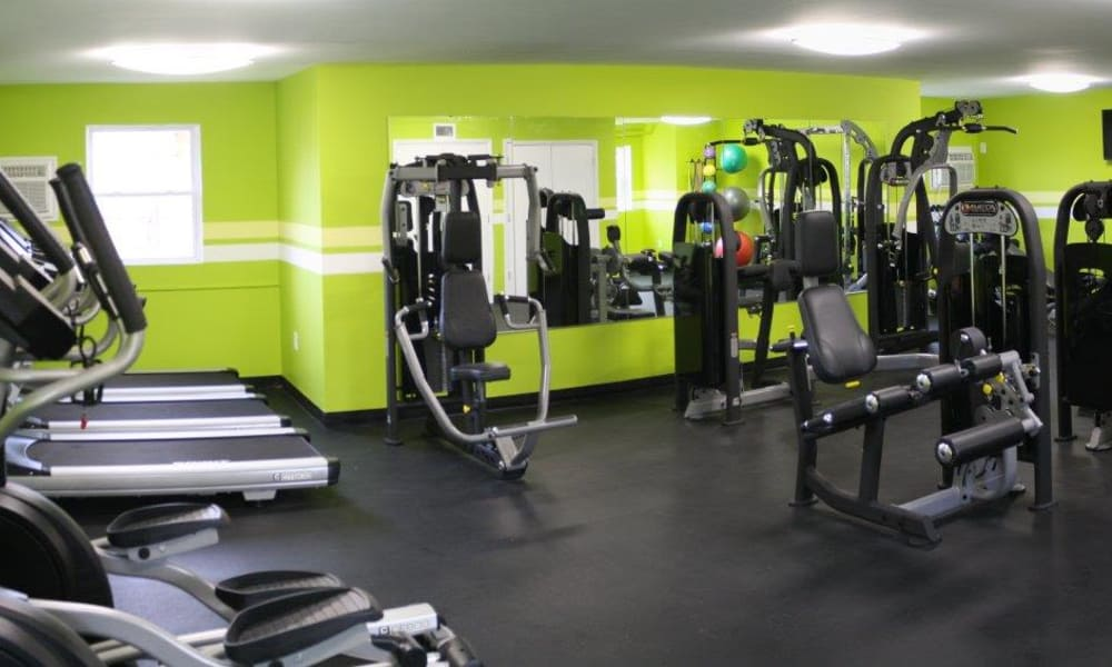 Fitness center at Eastampton Gardens Apartment Homes