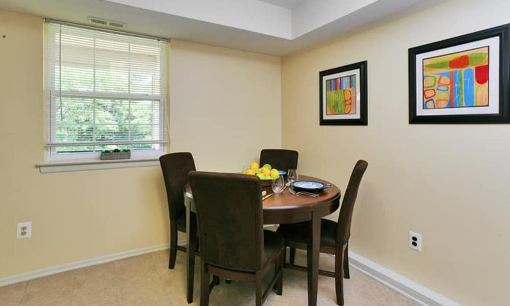 Luxury dinning table at Lumberton Apartment Homes in Lumberton, NJ